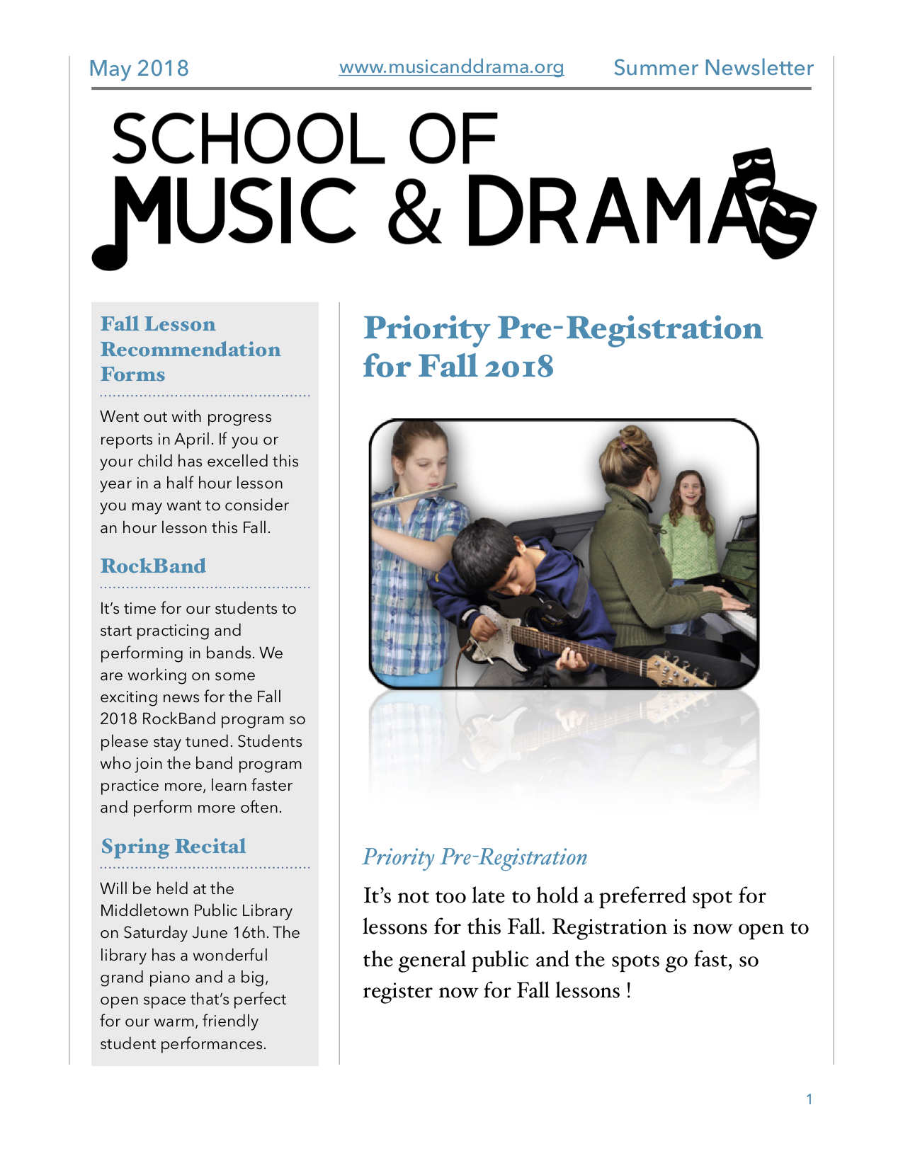 SMD Summer Newsletter